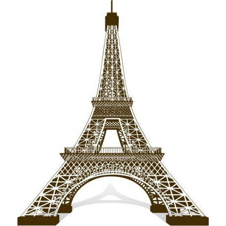 Tour Eiffel 3D Vecteur au trait