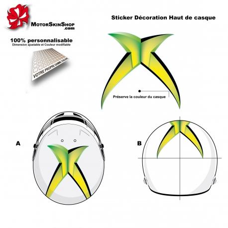 Sticker décoration casque personnalisé