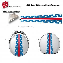 Sticker décoration casque Americain personnalisé