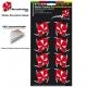 Pochette Sticker casque Fleur Hibiscus Cache impact