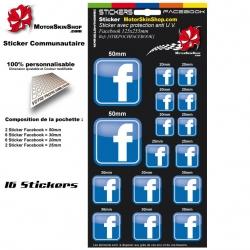 Planche Sticker Facebook autocollant