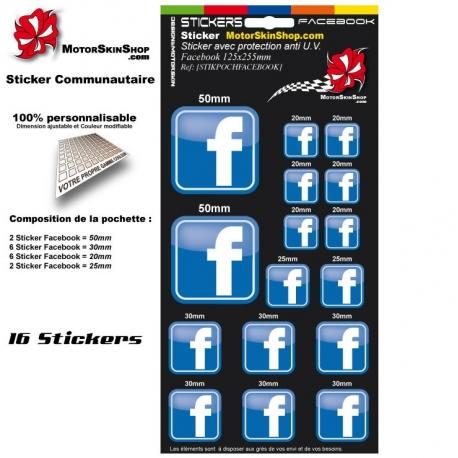 Pochette Sticker Facebook autocollant