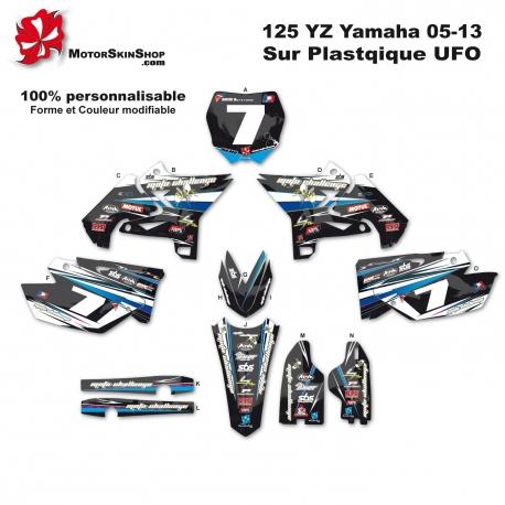 Kit déco Moto 125 YZ Yamaha plastique UFFO
