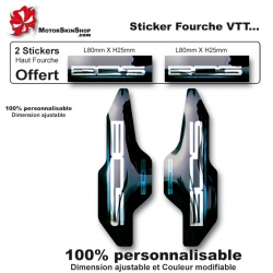 Sticker fourche vélo BOS métal anodisé