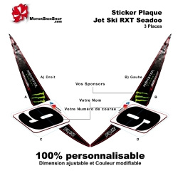 Sticker avant RXT Seadoo 3 places Monster