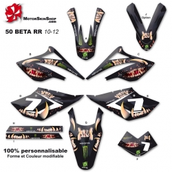 Kit déco 50 Beta RR 10-12 Monster Motorskin 50CC à boite Perso