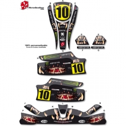 Kit déco Karting KG Unico Monster Motorskin