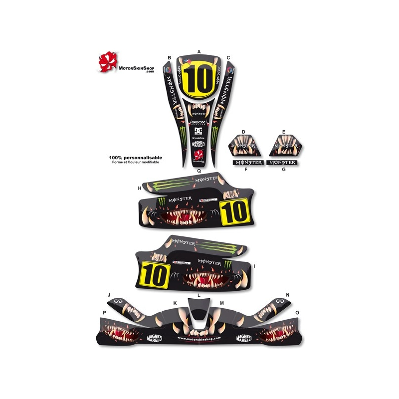 Kit d co karting standard monster energy 100 for Deco karting