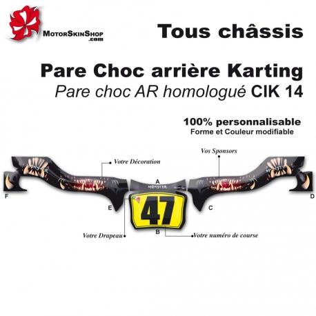 Kit Déco Pare choc arrière Karting CIK14 Monster Motorskin