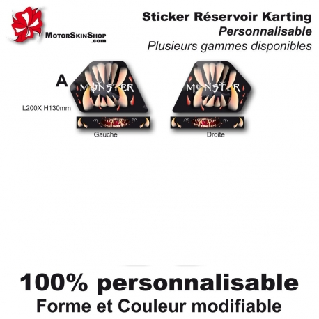Sticker réservoir Karting Monster Motorskin