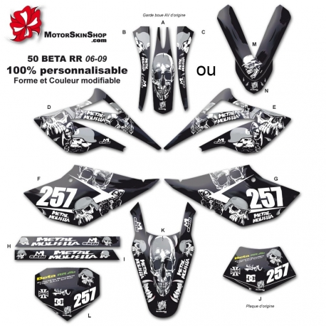Kit déco 50 Beta RR 06-09 Metal Melisha