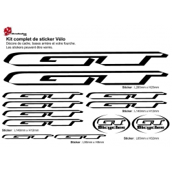 Sticker cadre vélo Kit GT Bicycles