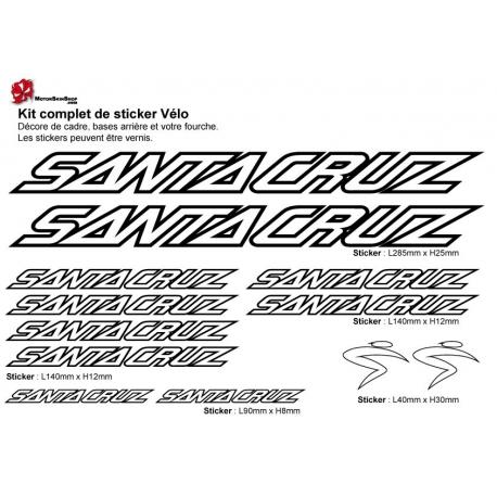 Sticker cadre vélo Kit Santa Cruz