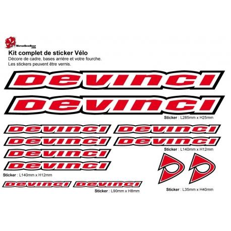 Sticker cadre vélo Kit Devinci