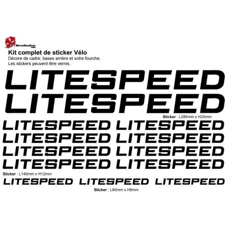 Sticker cadre vélo Kit Litespeed