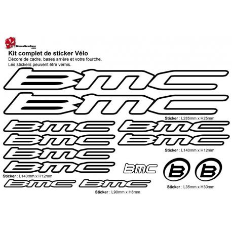 Sticker cadre vélo BMC