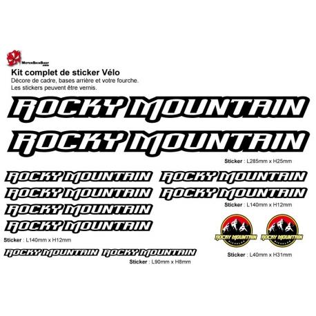 Sticker cadre vélo Kit Rocky Mountain