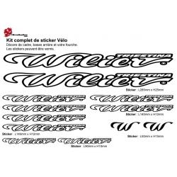 Sticker cadre vélo Kit Wilier