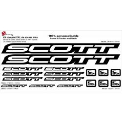 Sticker cadre vélo scott XXL avec débord