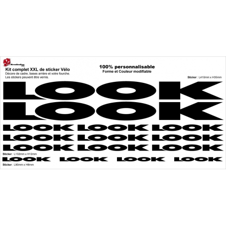 Sticker Kit cadre vélo XXL Look