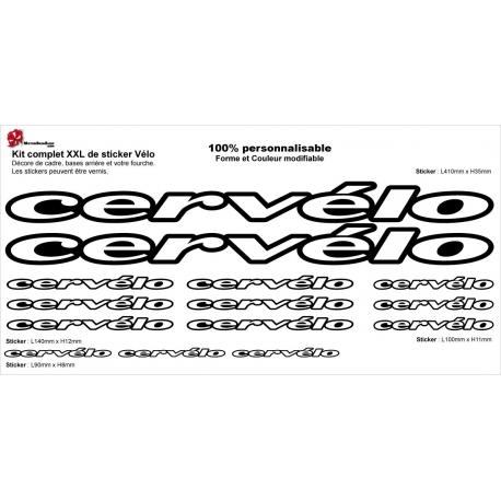 Sticker Kit cadre vélo XXL Cervélo