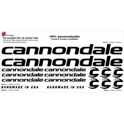 Sticker cadre vélo Cannondale XXL