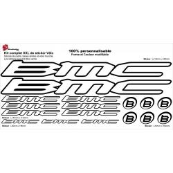 Sticker cadre vélo BMC XXL