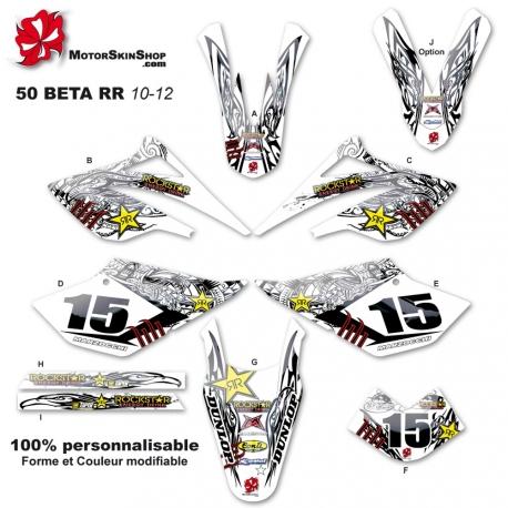 Kit déco 50 Beta RR 10-12 RockStar Tribal