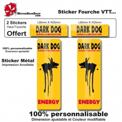 Sticker fourche vélo VTT Dark Dog