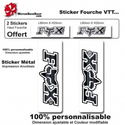 Sticker fourche Fox Blanc VTT