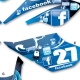Kit déco 50 Beta Facebook Twitter RR 10-12