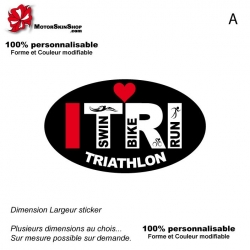 Sticker Logo ITRI Triathlon Noir
