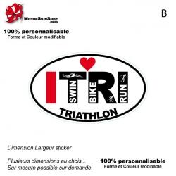 Sticker Logo ITRI Triathlon Blanc