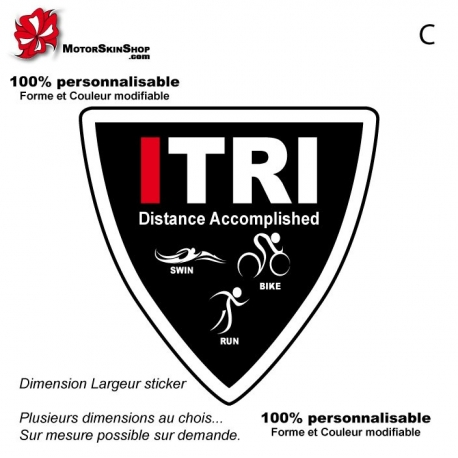 Sticker Logo ITRI Triathlon Triangulaire