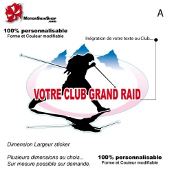 Sticker Logo Votre Club Grand Raid Trail Ultra Raid