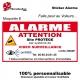 Sticker alarme maison factice autocollant Alarme
