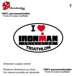 Sticker Logo I Love Ironman Triathlon