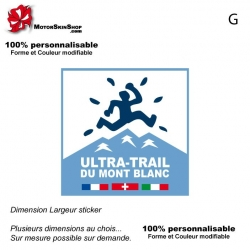 Sticker Logo Ultra Trail du Mont Blanc