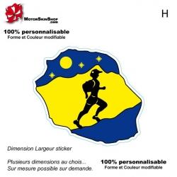 Sticker Logo Grand Raid Diagonale des fous