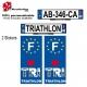 Sticker plaque immatriculation Triathlon