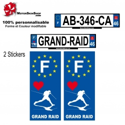 Sticker plaque immatriculation Grand Raid