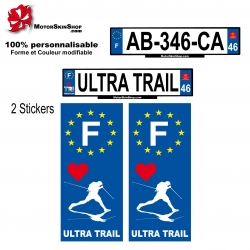 Sticker plaque immatriculation Ultra Trail