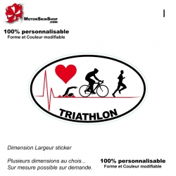 Sticker Logo Pulsion Triathlon Blanc
