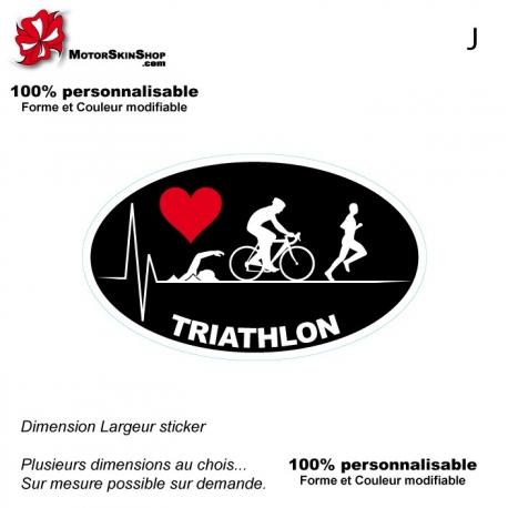 Sticker Logo Pulsion Triathlon Noir