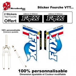Sticker fourche vélo Fox VTT
