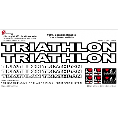 Sticker Kit cadre vélo XXL Triathlon