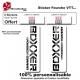 Sticker fourche vélo VTT Boxxer Blanc Rock Shox Sram