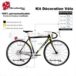 Sticker cadre Route Scott Vélo complet