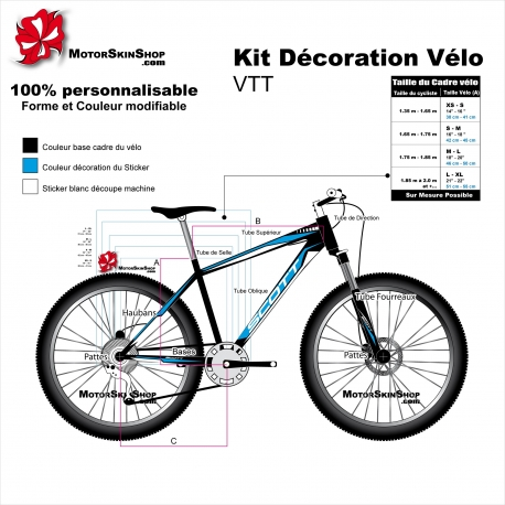 Kit décoration Vélo VTT Scott Sticker complet
