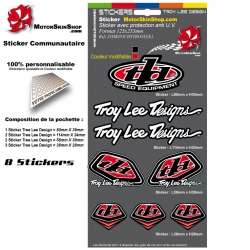Pochette Sticker Troy lee Designs Rouge